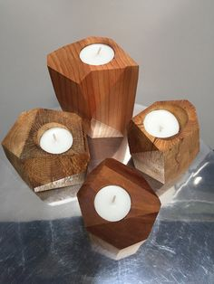 Cube tea light holders