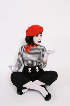 the 25 best mime costume ideas on mime makeup Circus Halloween Costumes, Mime Costume, Halloween 2019, Diy Costumes, Adult Costumes, Halloween Party, Costume Makeup, Costume Ideas, Red Queen Costume