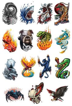 Giant Boys Temporary Tattoo Set