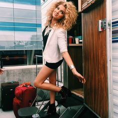 Follow Tori Kelly on Instagram to see all her BTS pics.