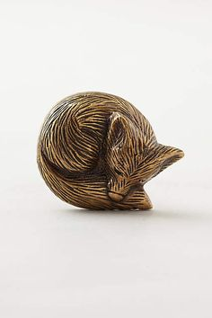 Forest Critter Knob - anthropologie.com. So cute for a chest of drawers