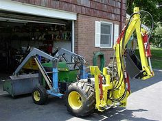 """Gallery - Category: Customers Pics: The """"Micro Hoe"""" for small tractors John Deere Garden Tractors, Jd Tractors, Small Tractors, Compact Tractors, Garden Tractor Attachments, John Deere 318, Homemade Tractor, Tractor Accessories, Tractor Loader"""