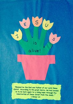Jesus is alive Easter resurrection craft (easter crafts for toddlers sunday school) Sunday School Crafts For Kids, Bible School Crafts, Sunday School Activities, Kids Sunday School Lessons, Easter Activities, School Kids, Easter Jesus Crafts, Easter Crafts For Kids, Toddler Crafts