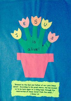 Jesus is alive Easter resurrection craft