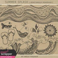 Summer Splash - Zentangle Doodles