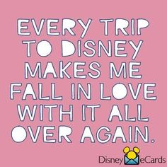 Every trip to Disney makes me fall in love with it all over again.