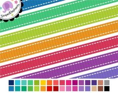 Stitched Ribbons - 32 colors