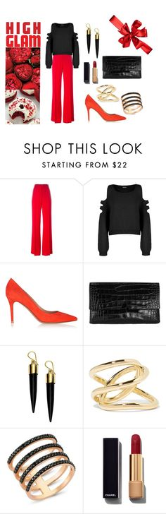 """""""Valentine's Day - choose red"""" by li-lac7 on Polyvore featuring Issa, WearAll, Gianvito Rossi, Vince, FOSSIL, Jennifer Fisher, Amorium, Chanel, women's clothing and women"""