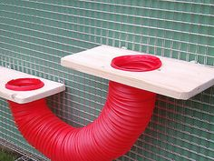 """Two 12x6"""" shelves with play tube rat,degus,chipmunk cage"""