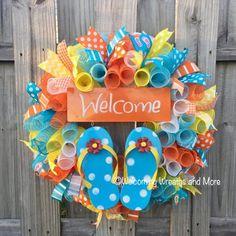 Flip Flop Wreath Summer Wreath Spring Wreath Welcome