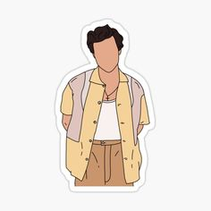 Tumblr Stickers, Cool Stickers, Printable Stickers, Brand Stickers, Harry Styles Dibujo, Harry Styles Drawing, Desenhos One Direction, One Direction Art, Snapchat Stickers