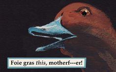 The Mincing Mockingbird & The Frantic Meerkat — Foie Gras - rectangle magnet