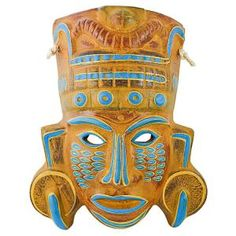 NEW PRODUCT!! Hand-painted in Jalisco, Mexico, these beautiful ceramic masks are carefully crafted using traditional processes. Each is striking in its detail and design. These masks make a bold statement and will add color and character to any room.