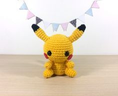 Sorry Ash, but we know who the real star here is. This week was super busy with University projects and orders, so I'm couple of days late with this week's pattern, sorry! But it's finally time for Pikachu to make an appearance! The tail was a bit tricky to work out, so I've included a lot of photos and a (hopefully!) thorough description to help you out. If you don't crochet you can find this guy at either my Etsy or Storenvy. Enjoy! You will need: 3.0mm crochet hook yellow yarn black yarn…