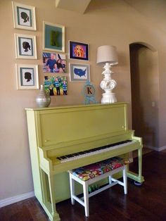 pale green piano
