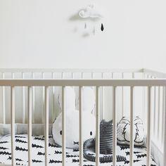 Gorgeous monochrome black and white nursery