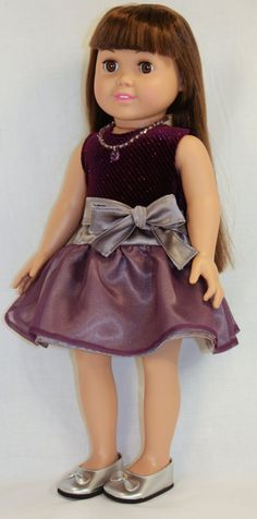 American Girl/ 18 Inch Doll Clothes - School Dance Dress