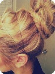 Fishtail wrapped bun. #hair #style