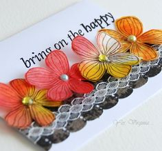 Yes, Virginia...: Inks, Flowers....and Coffee Filter!