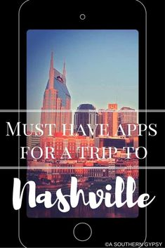 Headed to Nashville? These apps for Nashville will definitely help you plan your trip and maximize your time while in you're in town! Nashville Vacation, Tennessee Vacation, Nashville Tennessee, Visit Nashville, Tennessee River, Us Travel Destinations, Travel Usa, Travel Tips, Travel Ideas