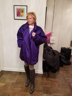 Norma Kamali Purple Sleeping Bag Puffy/Ski Coat Size OS (one size). Free shipping and guaranteed authenticity on Norma Kamali Purple Sleeping Bag Puffy/Ski Coat Size OS (one size)Rare Vintage Purple NORMA KAMALI OMO 80's Sleeping...