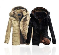 New Trend Fashion 2014 Men's Warm Hoodie Coat Parka Winter Coat Outwear Jacket #NEW #BasicJacket