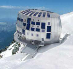Le refuge du goûter in Mont Blanc