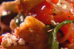 Get Panzanella with Feta and Basil Recipe from Food Network
