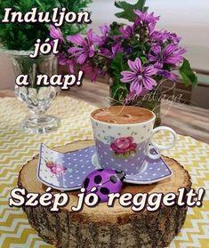 Good Morning Sunrise, Joelle, Tea Cups, Place Cards, Place Card Holders, Mugs, Tableware, Dan, Bom Dia