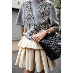 Mini full skirt/ mini falda con vuelo