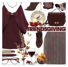 """Gather 'Round: Friendsgiving"" by aleks-g ❤ liked on Polyvore featuring Kevyn Aucoin, Bailey 44, Emilia Wickstead, Libbey, Eddie Borgo, EyeBuyDirect.com, Mulberry, Tom Ford, Richard Ginori and Improvements"