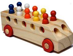 carrinho de brinquedo educativo de madeira