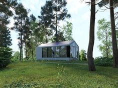 These off-grid homes, manufactured by Ukrainian startup PassivDom, can withstand hurricanes and earthquakes. Affordable Prefab Homes, Modern Prefab Homes, Prefabricated Houses, Modular Homes, 3d Printed House, Off Grid Tiny House, Building A Cabin, Green Building, Compact House
