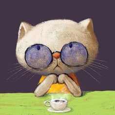 Animation, Sad Cat, Gif Collection, Anne Of Green Gables, Cute Gif, Gifs, Good Morning, Illustration, Funny Animals