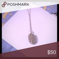 Pinecone silver necklace Handmade, silver. Very dainty and cute Jewelry Necklaces