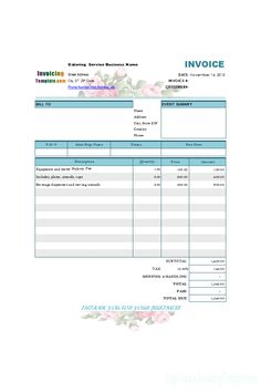 Uk Tax Invoice Template  Vat    Template