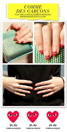Comme des Garçons Play Nails from Elizabeth Monson