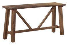 Mill Wood Refectory Console Table (KD) - Console & Hall Tables - Lounge & Living - Timber and Bedding at the Right Price Recycled Wood Furniture, Timber Furniture, Consoles, Country Style Furniture, Wooden Console Table, New Farm, Reclaimed Timber, Old Wood, Decoration