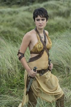 """Tyene Sand is a recurring character in the fifth and sixth seasons, though she was alluded to in Season 4. She is played by Rosabell Laurenti Sellers and debuts in """"Sons of the Harpy"""". Tyene Sand is the third of the eight bastard daughters of Prince Oberyn Martell, known as the """"Sand Snakes"""". She is also his eldest daughter by his paramour, Ellaria Sand. Tyene fights using a pair of long daggers, though her other signature weapon is her skill with poisons - a tactic she learned from her..."""