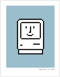 Original MacOS icon signed by Susan Kare!
