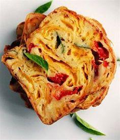 Cake à la Mimolette et aux deux poivrons | Envie de bien manger http://www.enviedebienmanger.fr/fiche-recette/recette-cake-a-la-mimolette-et-aux-deux-poivrons