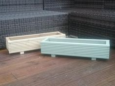 3 sizes of Painted/Natural Wooden Decking Planter/Window Box/Trough/Garden/Herb 3 sizes of Painted/N Deck Planters, Wooden Planters, Wooden Decks, Wooden Trough, Plant Troughs, Garden Troughs, Apartment Balcony Garden, Garden Boxes