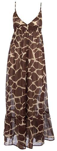 Dorothy Perkins Giraffe print maxi dress
