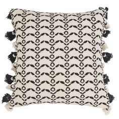 Cotton Cushion Cover with Ethnic Print 40x40