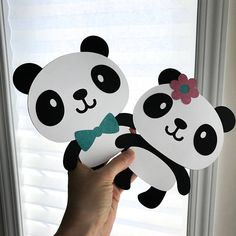 PANDA Bear Oversize Die cuts Cute boy girl gender reveal
