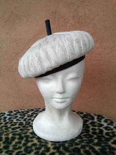 Vintage 1960s Hat Mod Beret Raffia Bubble Nautical Style Straw 16e2f0ed0ce2