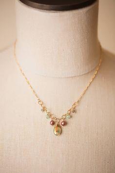"Anne Vaughan Designs - Simple Elegance 15.5-17.5"" Gemstone Chandelier Necklace, $60.00 (http://www.annevaughandesigns.com/simple-elegance-handmade-gemstone-chandelier-necklace/)"