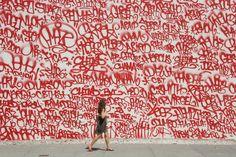 Bold graffiti.