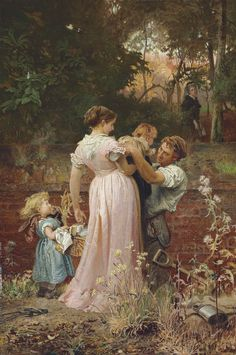 Marcus Stone (1840 - 1921) - My Lady is a Widow and Childless