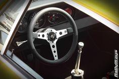 Momo Prototipo steering wheel in a classic 1972 Porsche 911rs. #momo #momoprototipo